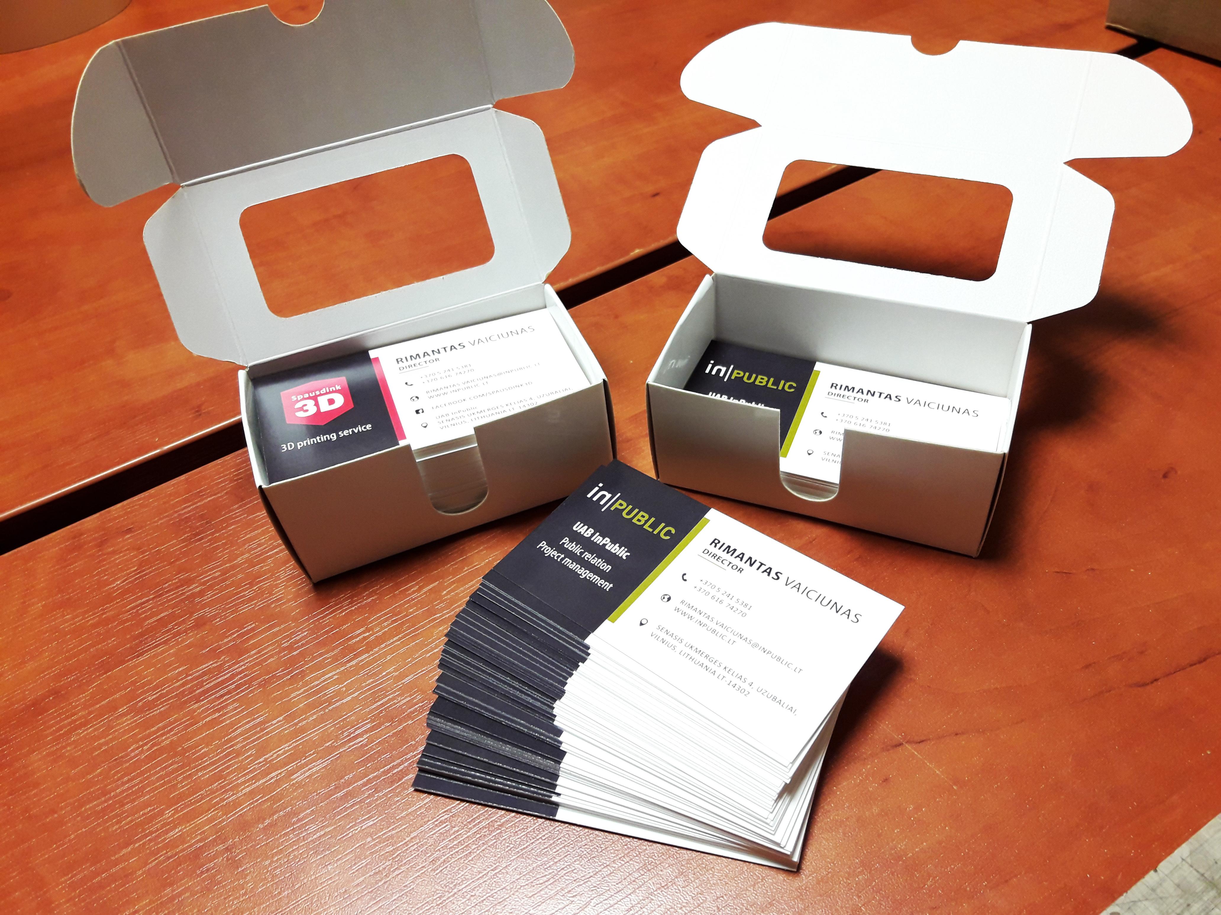 Vizitinių kortelių spausdinimas